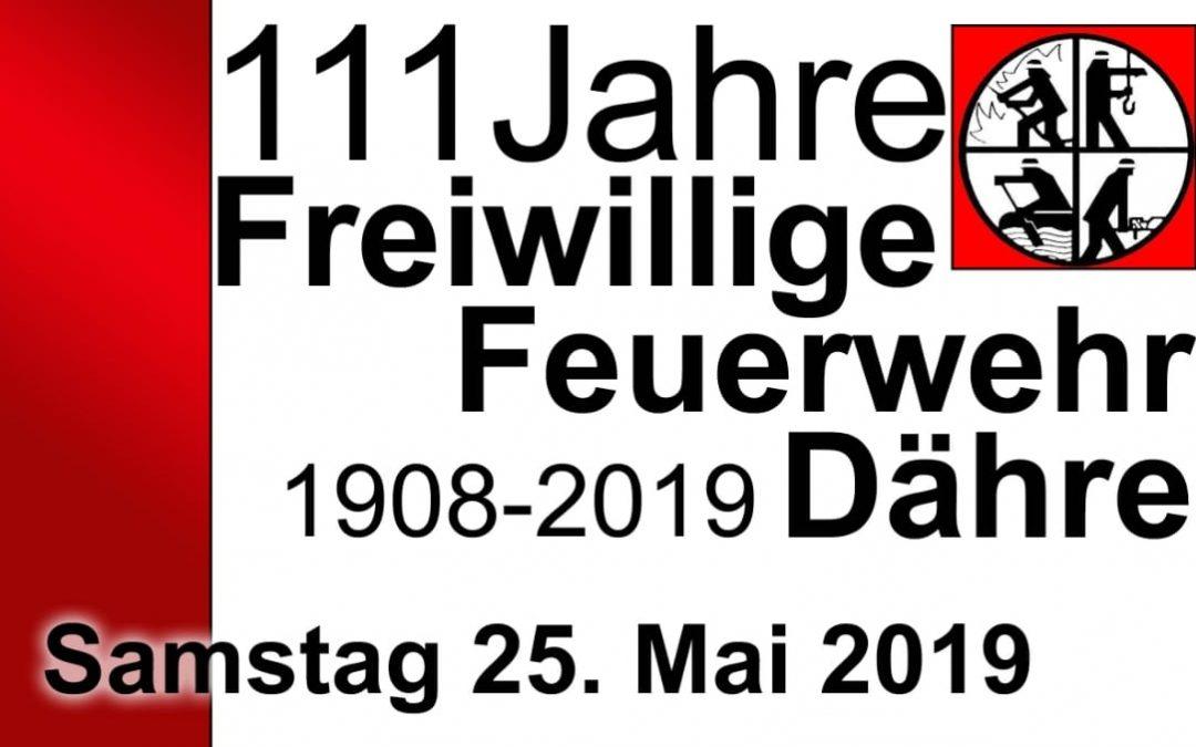111 Jahre Freiwilligen Feuerwehr Dähre