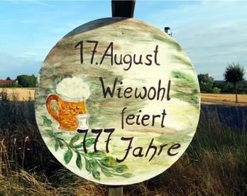 Wiewohl feiert am 17. August 2019 sein 777-jähriges Bestehen