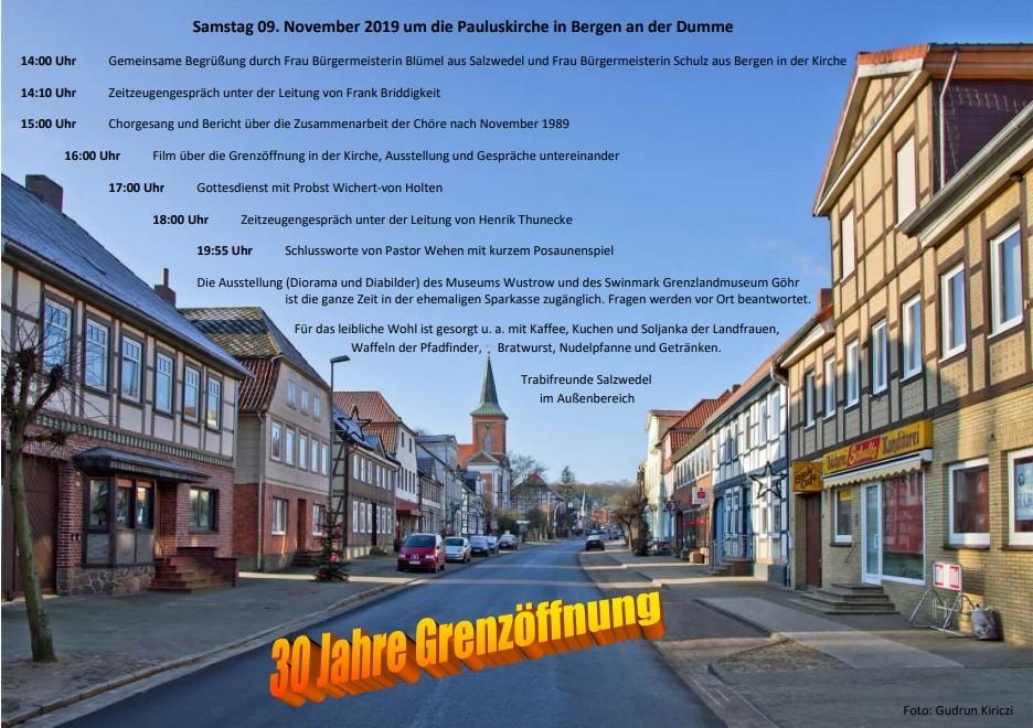 Samstag 09. November 2019 um die Pauluskirche in Bergen an der Dumme